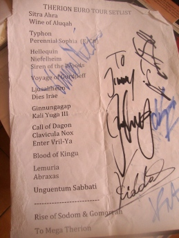 SET LIST THERION TOULOUSE