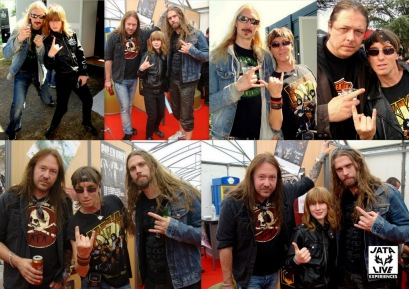 HAMMERFALL & nous backstage ...