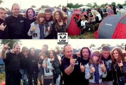 Près des tentes avec nos amis LES TAUPES, fans de hard extrême et férus du camping Hellfest. Le groupe DWAIL est à nos cotés