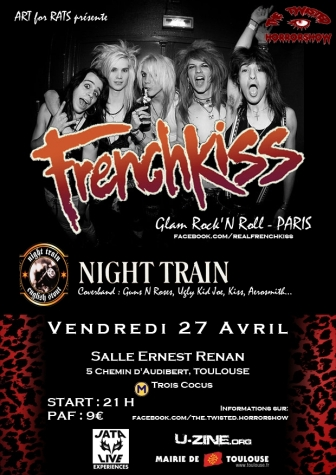 FRENCHKISS + NIGHTRAIN live le 27 avril à Toulouse!