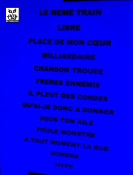 La set list du soir...
