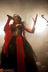 Cantarice vêtue de rouge et noir...