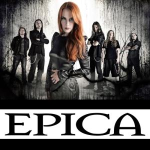 L'affiche du concert d'EPICA au bikini.
