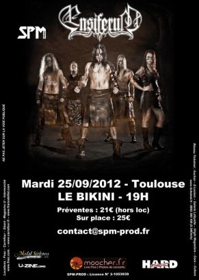 L'affiche du concert Toulousain.