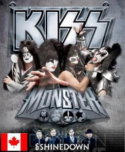 KISS CANADIAN TOUR 2013