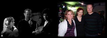 Stéphanie et Basile, pendant et après le show, avec ANNEKE