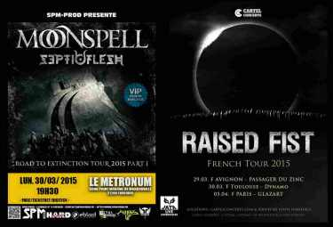 AISED FIST SEPTICFLESH MOONSPELL Toulouse 30 mars 2015