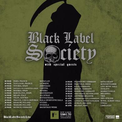 BLACK LABEL SOCIETY Tour 2018